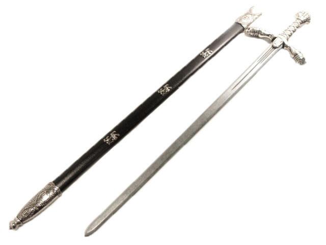 リチャードライオンハーツソード ブラック/シルバー (獅子心王剣)◆西洋刀剣 西洋剣 剣 サーベル ソード
