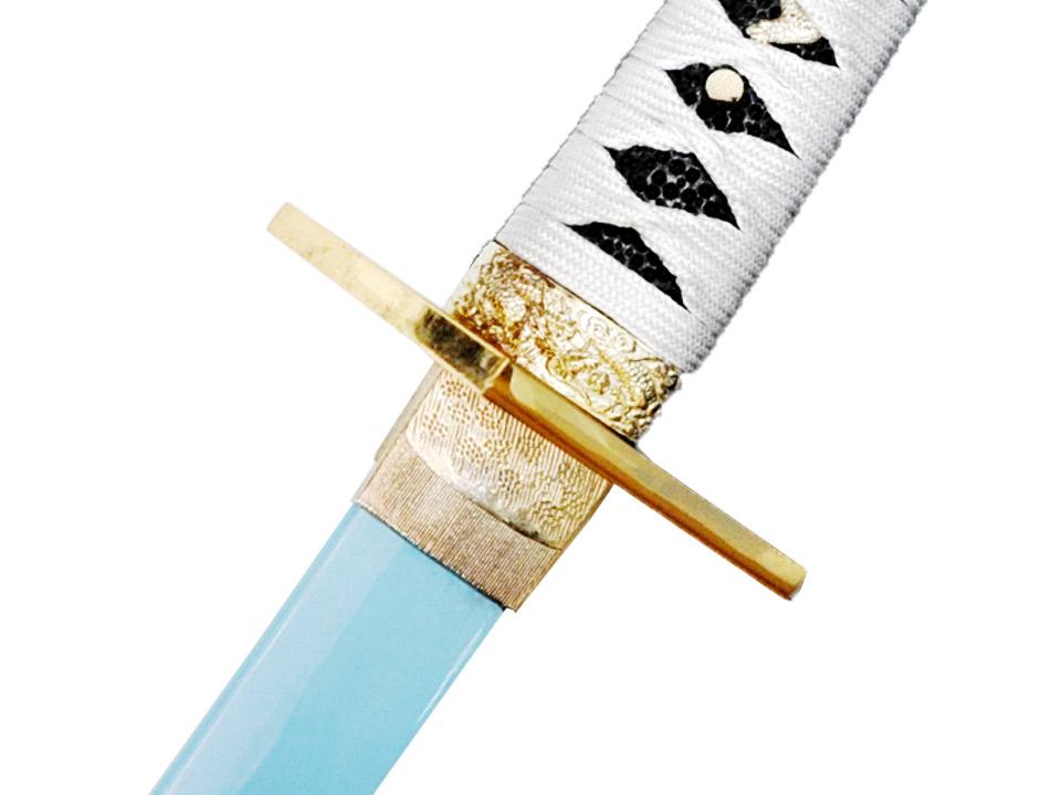 模造刀(美術刀) 鬼切刀(おにきりとう)其之二 水色刀身◆コミック アニメ 模擬刀 刀剣 コスプレ ゲーム刀剣