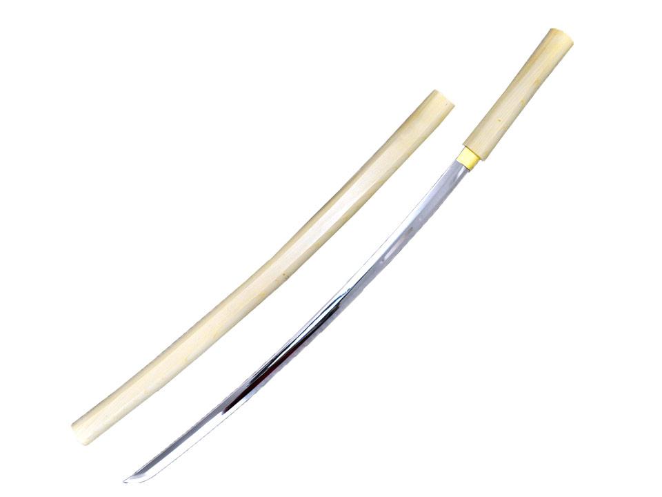 模造刀(美術刀) 白さや 大刀 直刃(すぐば)◆白鞘 合口 ドス