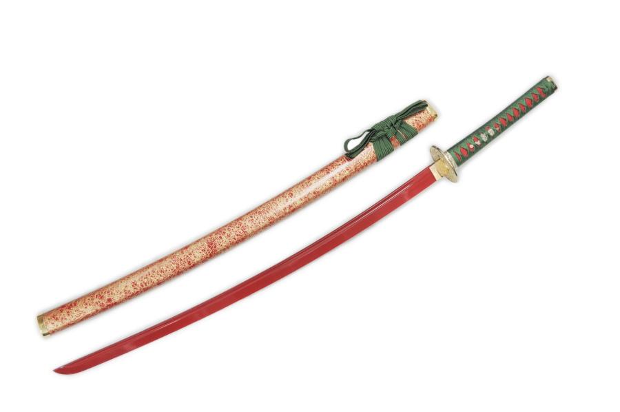 模造刀(美術刀)武神刀(ぶしんとう)増長天(ぞうちょうてん)拵◆赤刀身 四天王 日本刀 刀剣 オリジナル模造刀