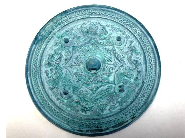 八咫鏡(やたのかがみ)緑青風(ろくしょうふう)◆三種の神器 古代の鏡 古事記 日本書紀