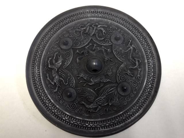 八咫鏡(やたのかがみ)黒鉄風(くろがねふう)◆三種の神器 古代の鏡 古事記 日本書紀