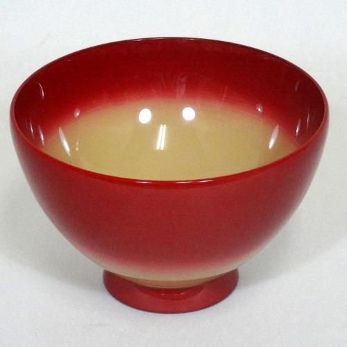 輪島塗 (汁椀) 和椀 紅ぼかし/白 (名入れ可)