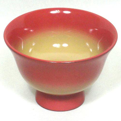 輪島塗(酒器)ぐい呑み ピンクぼかし/白