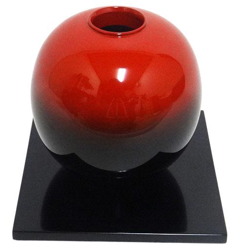 輪島塗 花器 球型 曙 無地 しき板