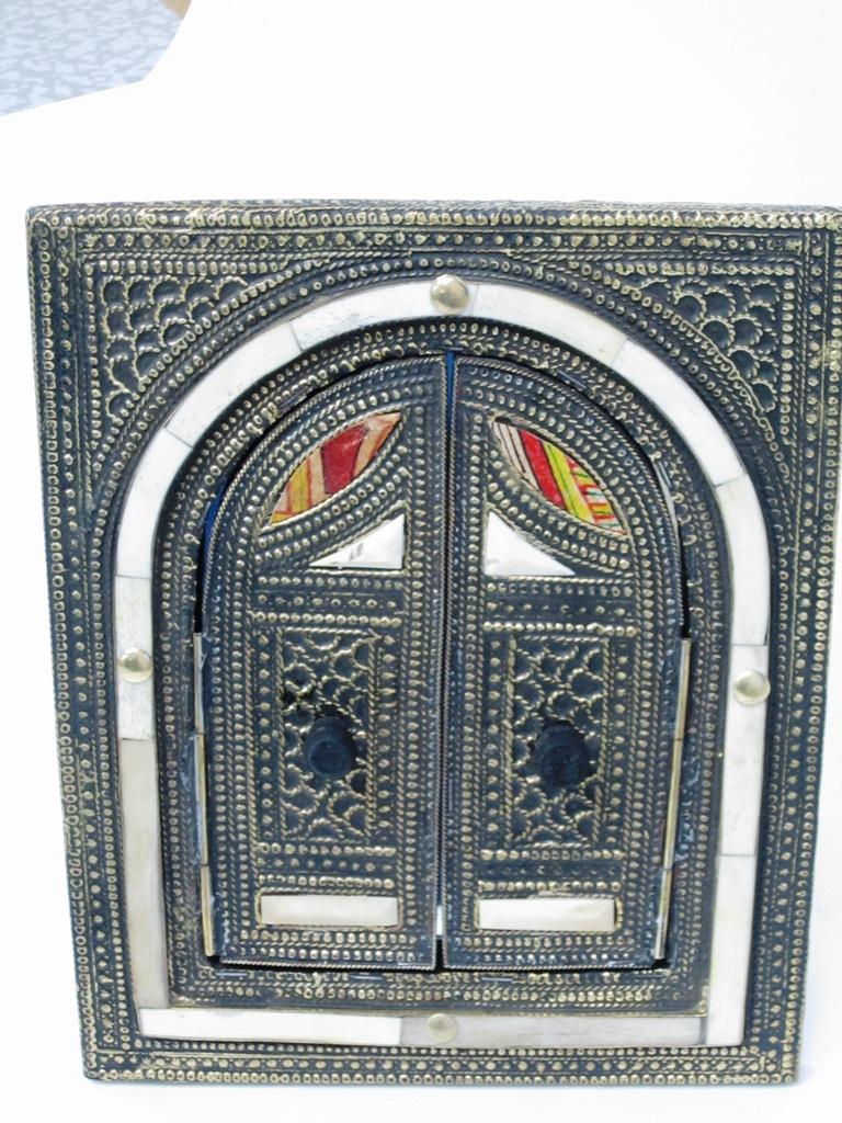 モロッコ アラビアンミラー ブロンズ オールド アンティーク