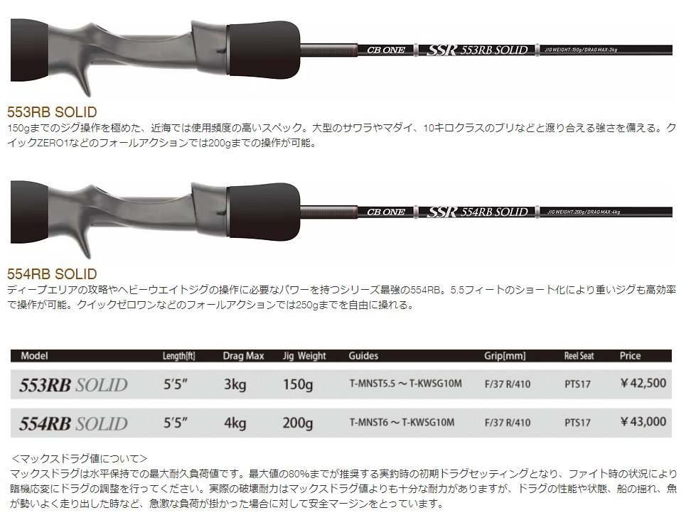 CB ONE シービーワン SSR 553RB SOLID TECHNICAL LIGHT