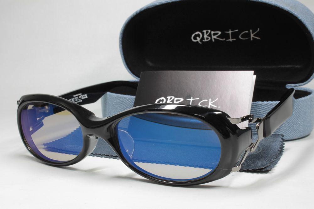 QBRICKキューブリック 偏光サングラス BTY7701 COMBEX コンベックス Polawing SPX04 CR ライトブラウン/ブルーミラー
