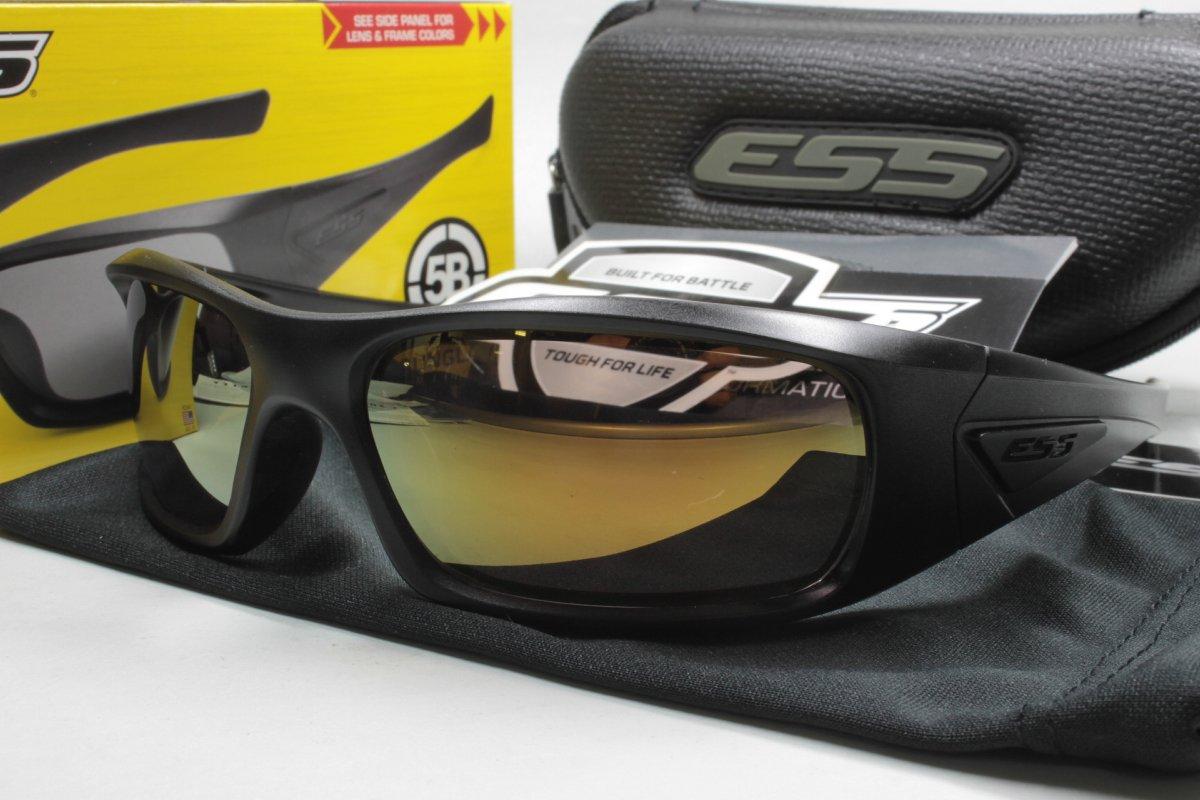 カスタム偏光サングラス (特注レンズ自由選択)イーエスエス ESS 5B BLACK / COMBEX ミラーモデル