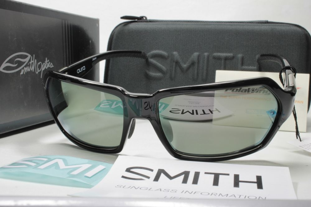 SMITH スミス 偏光サングラス ACTION POLAR SERIES 207500007 Aura Black X-Gray12 Silver Mirror