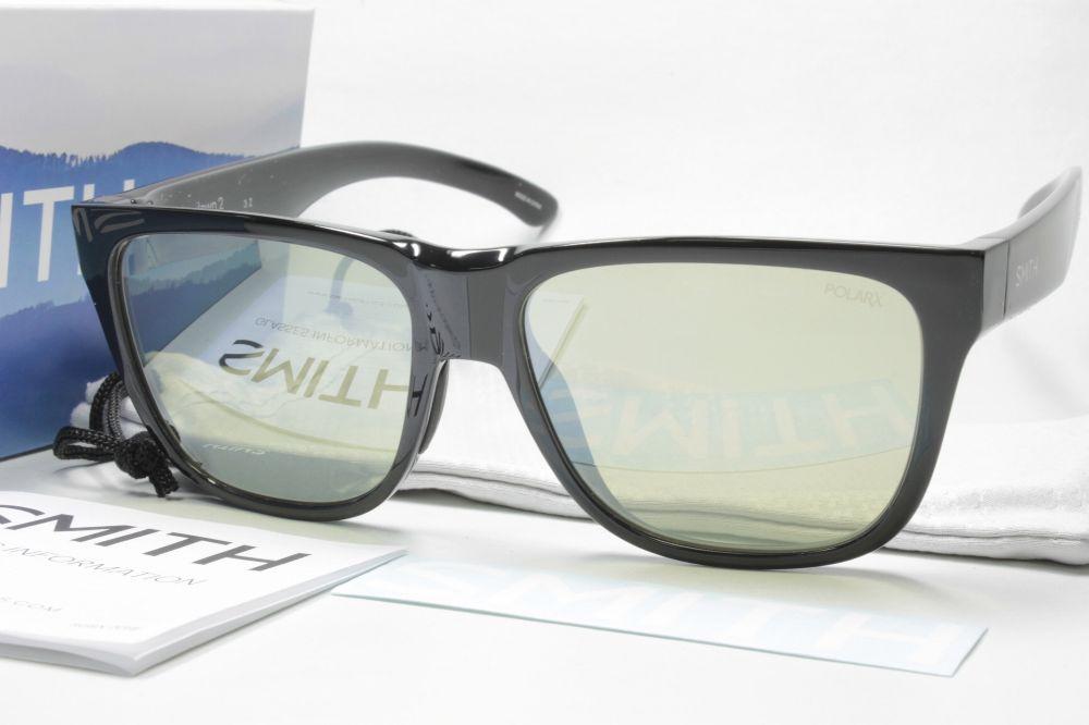 SMITH スミス 偏光サングラス ACTION POLAR SERIES 207700051 Lowdown 2 (NEW) BlackX-Light Green37 Silver Mirror