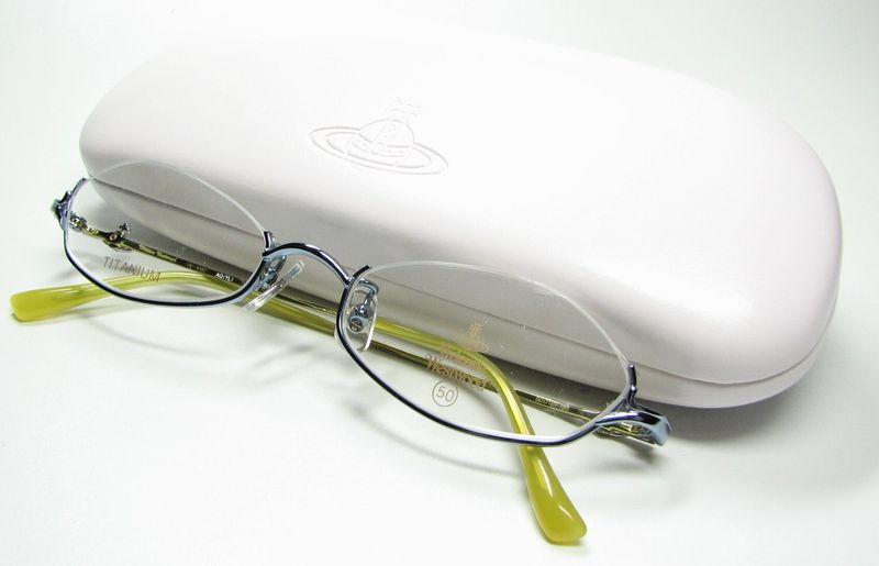 メガネ用度付きレンズ無料 VivienneWestwood W 5050 AQ/YL ブルー/イエロー