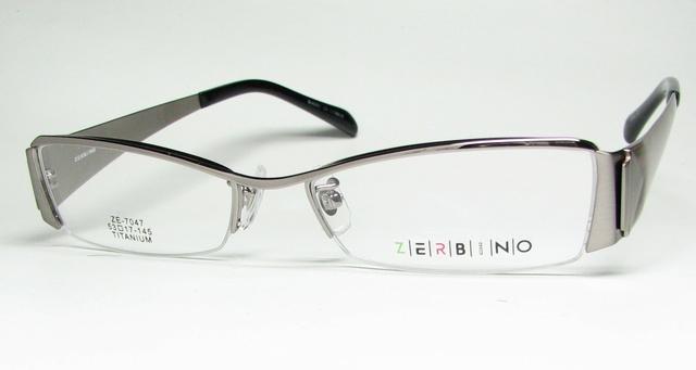 メガネ 眼鏡 度付レンズ 加工無料 ZERBINO ZE 7047 C 3