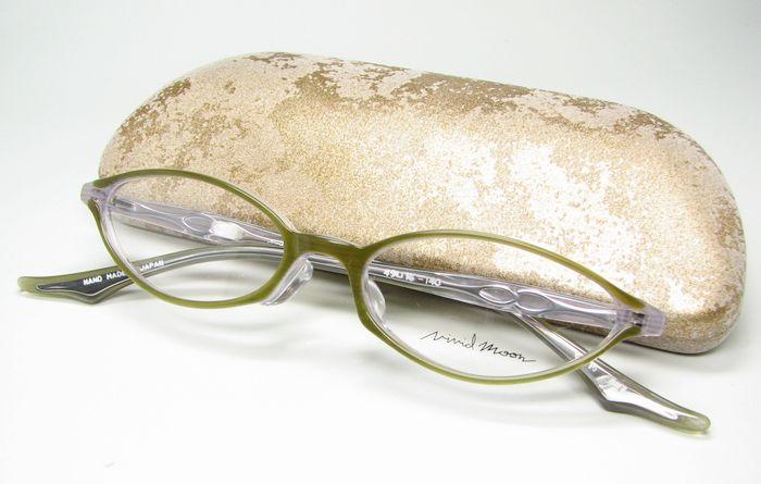 メガネ 眼鏡 度付レンズ 加工無料 VividMoon松雪泰子 VM 11233 オリーブグリーンストライプ col827