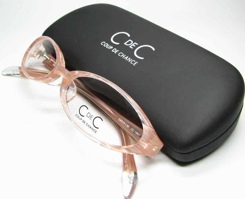 メガネ 眼鏡 度付レンズ 加工無料 COUP DE CHANCE CC 1051 ピンクストライプ C 1