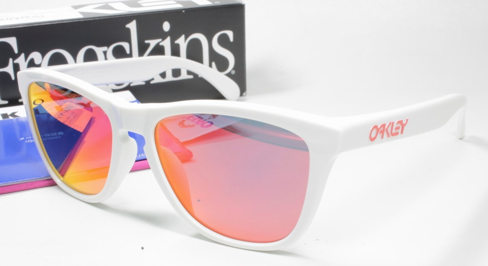 OAKLEY オークリー サングラス OO9245 FROGSKINS フロッグスキン (A) 924544 POLISHED WHITE(4C)