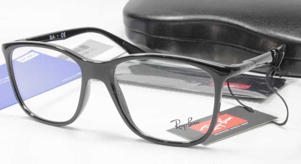 メガネ用度付きレンズ無料 Ray-Ban レイバン フレーム RAYBAN RX7143 2000 BLACK 53