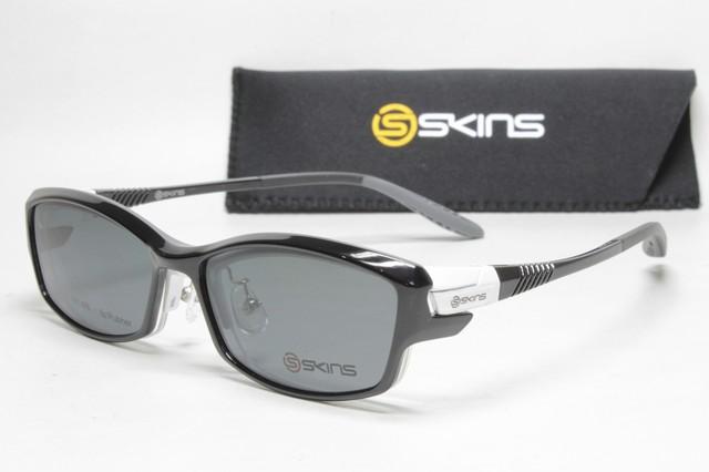 カスタム度付き偏光サングラス SKINS SK 115 Col.4 (1.60非球面度付きレンズセット)