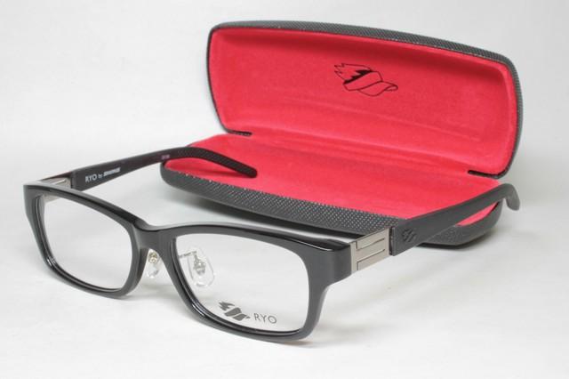 メガネ 眼鏡 度付レンズ 加工無料 SWANS スワンズ 「RYO」 RI 002 BK/BK ブラック/ブラック