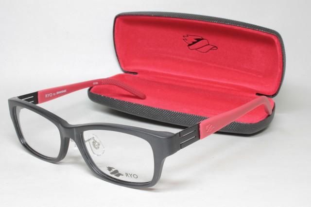 メガネ 眼鏡 度付レンズ 加工無料 SWANS スワンズ 「RYO」 RI 002 MBK マットブラック/レッド