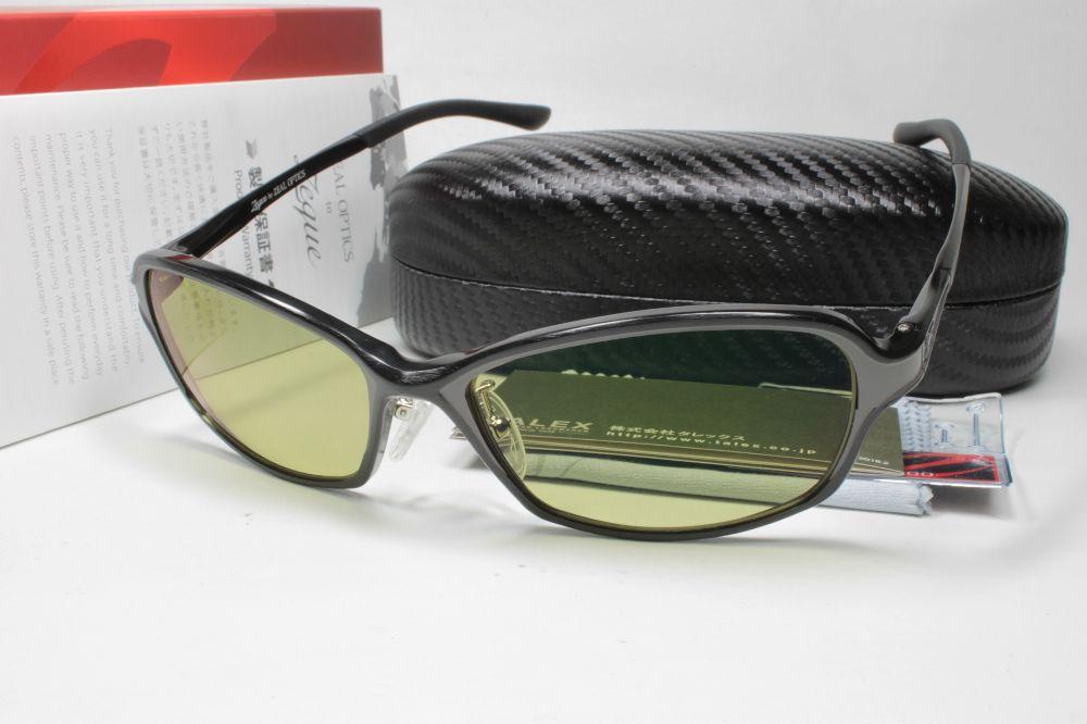 ジールオプティクス 偏光サングラス TALEXレンズ Dorio(ドリオ)・F-1669・ブラック/グレー・EG/イーズグリーン