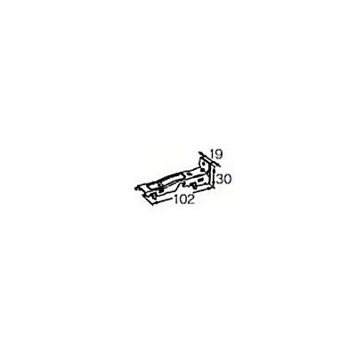 ヨコタ カーテンレール フリーク用 ロックオン ダブルブラケット正面付け ヨコタ カーテンレール フリーク用 ロックオン ダブルブラケット正面付け