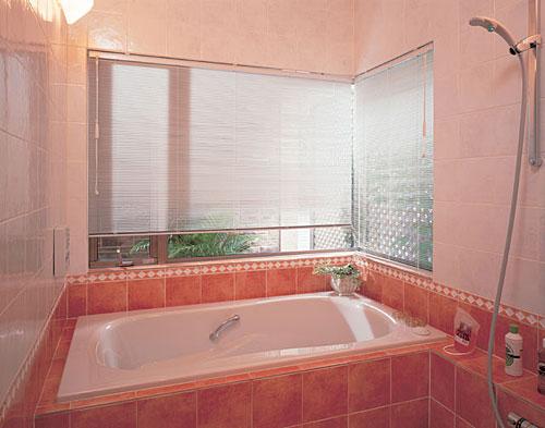 浴窓用テンションタイプ ブラインド TOSO ニューセラミー15浴窓テンションタイプ 幅141cm~160cm×丈31cm~50cm【送料無料】