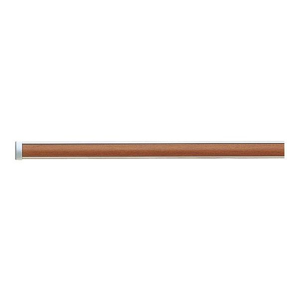 ピクチャーレール ~2.5mオーダーサイズセット ミディアムウッド インテリアハンガー(ワイヤータイプA)付き