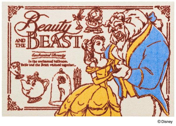 Disney Mat Collection マット 美女と野獣 60cm×90cm(ディズニーのマット)