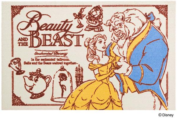 Disney Mat Collection マット 美女と野獣 75cm×120cm(ディズニーのマット)