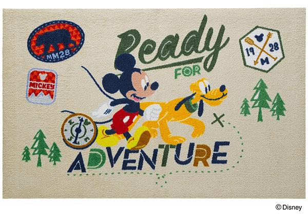 Disney Mat Collection マット Mickey/ミッキー アドベンチャー 75cm×120cm(ディズニーのマット)