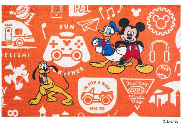 Disney Mat Collection マット Mickey/ミッキーと仲間達 75cm×120cm(ディズニーのマット)