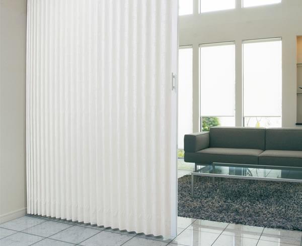 TOSO アコーディオンドア(アコーディオンカーテン) クローザーライト マトリクス 幅126~150cm×丈191~200cm