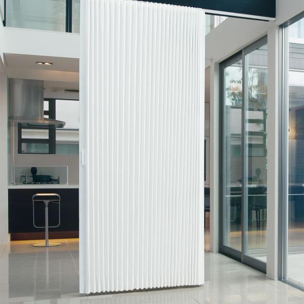 TOSO アコーディオンドア(アコーディオンカーテン) クローザーライト シャープ 幅151~175cm×丈221~230cm