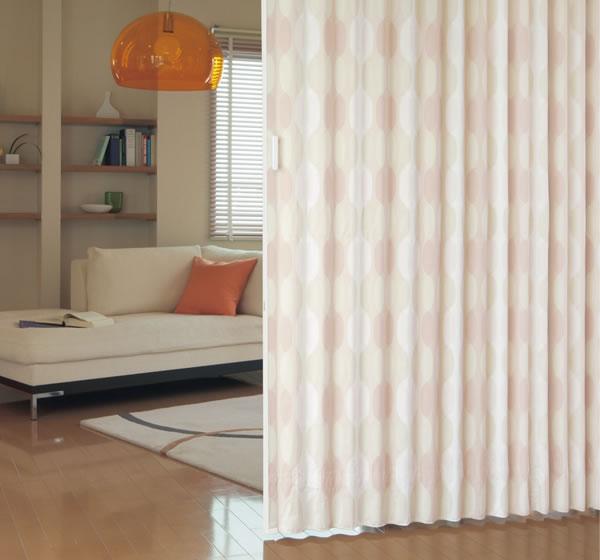 TOSO アコーディオンドア(アコーディオンカーテン) クローザーライト ウェーブ 幅60~100cm×丈221~230cm
