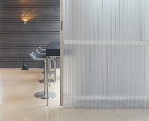 TOSO アコーディオンドア(アコーディオンカーテン) クローザーエクセル ストリーム 幅55~90cm×丈71~170cm