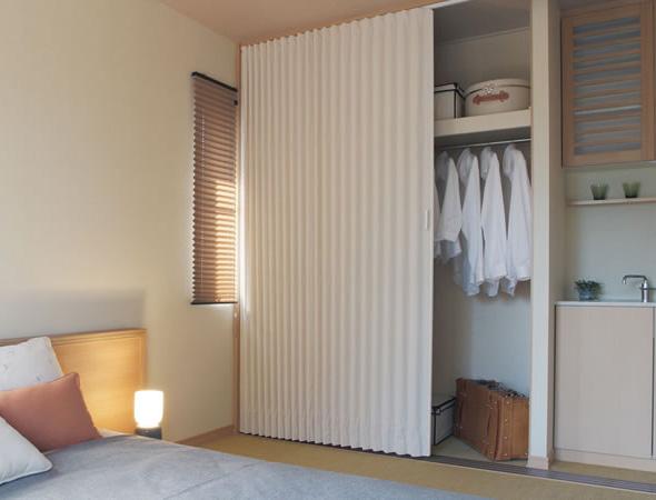 TOSO アコーディオンドア(アコーディオンカーテン) クローザーエクセル ニューエスポワール 幅55~90cm×丈201~210cm