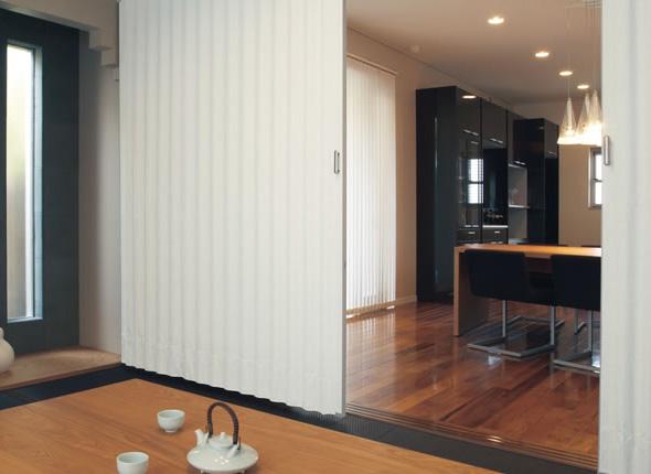 TOSO アコーディオンドア(アコーディオンカーテン) クローザーライト セイエス 幅126~150cm×丈231~240cm