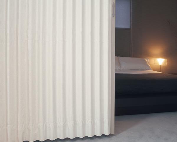 TOSO アコーディオンドア(アコーディオンカーテン) クローザーエクセル サーブル 幅211~240cm×丈201~210cm