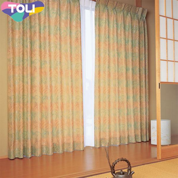 高級 東リ オーダーカーテン 正規取扱店 fuful フフル 和風カーテン フラット縫製 和風 カーテン TKF10282 幅175~271cm×丈~100cm
