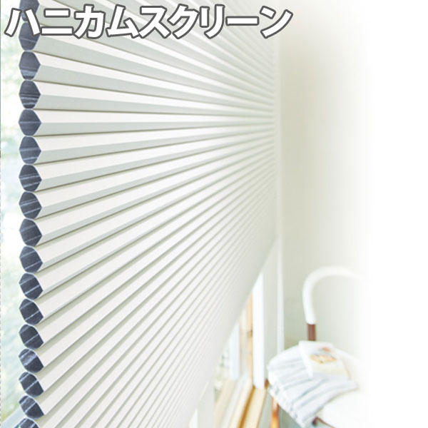 ニチベイ ハニカムスクリーン レフィーナ ココン(防炎) シングルスタイル ループコード式 幅121~160cm×丈30~60cm