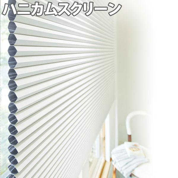 ニチベイ ハニカムスクリーン レフィーナ オストル(遮光1級)(非防炎) シングルスタイル コード式 幅161~200cm×丈181~220cm