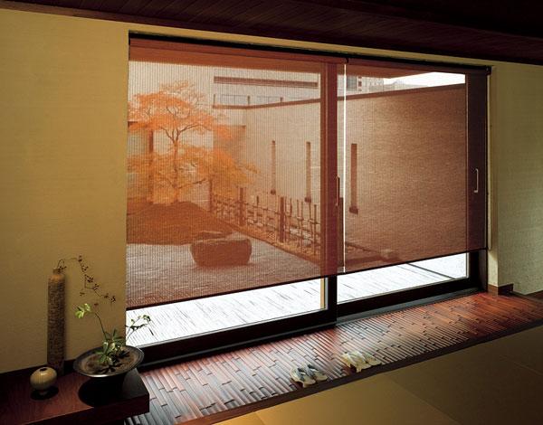 ロールスクリーン ニチベイ 長月・木染月 竹経木 ロールカーテン 幅161~200cm×丈81~120cm