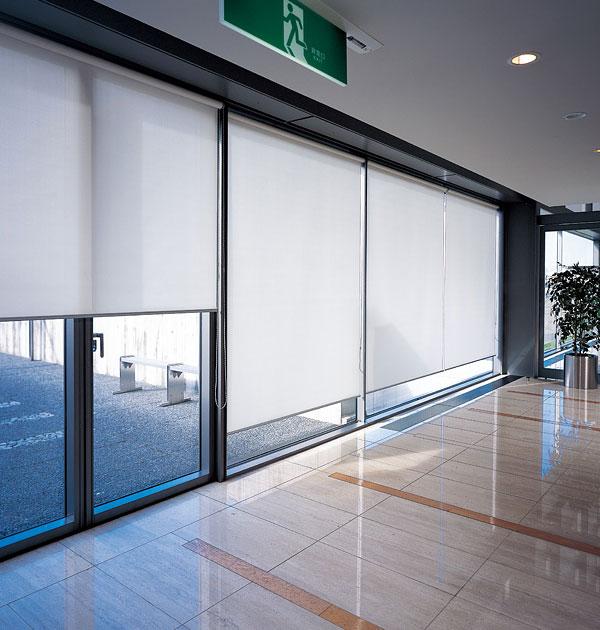 ロールスクリーン ニチベイ 平織りミディアム ロールカーテン 幅121~160cm×丈401~450cm