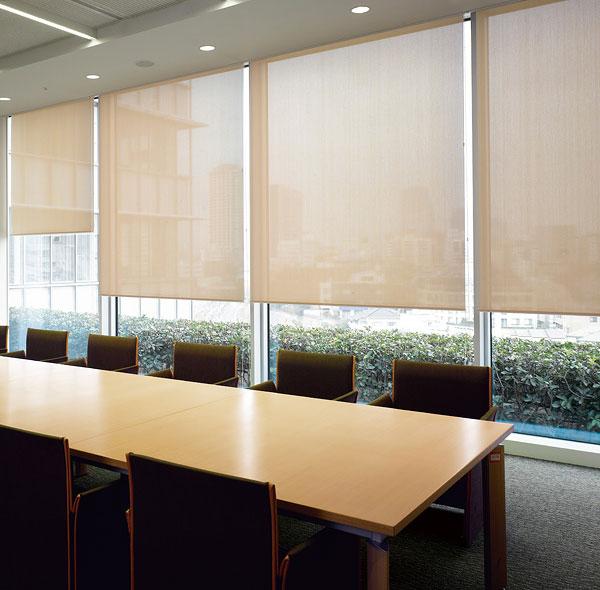 ロールスクリーン ニチベイ 綾織りミディアム ロールカーテン 幅51~80cm×丈301~350cm