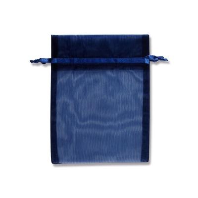 ゆうパケット 4束まで送料200円 オーガンジーバッグ 平袋タイプ M 10枚 売店 格安店 NV ネイビー