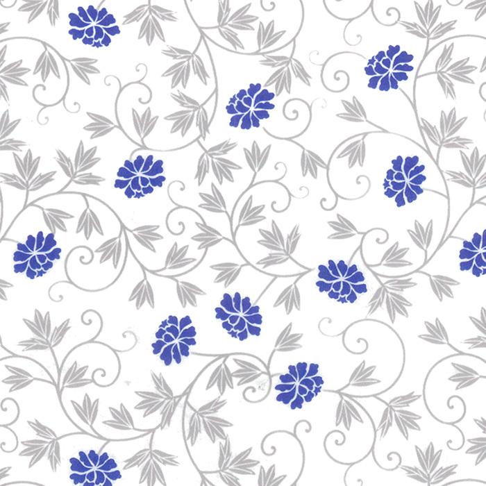 HEIKO 包装紙 デポー 定番から日本未入荷 半才並口 藍 100枚 なごり花