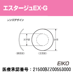 【20ポイント付】エイコー正規品 【エスタージュEX-G】 単焦点ハードコンタクトレンズ【1枚】