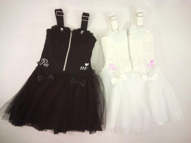 【セール】 RONI(ロニィ)★チュールフリル付きチュチュジャンパースカート