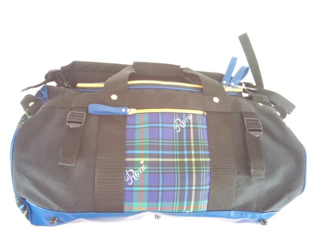 RONI(ロニィ)★タータンチェック&ロゴプリントのダッフルバッグ・ボストンバッグ・旅行バッグ・リュックサック